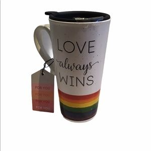 Love Always Wins Travel Coffee Mug